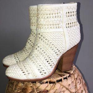 Rag & Bone Newbury Woven booties cream White 37.5